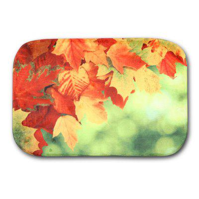 Maple Leaf Flannel Doormat Rug Mat