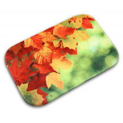 Maple Leaf Non-slip Doormat Indoor Outdoor Bathroom Floor Rug Mat Flannel Carpet