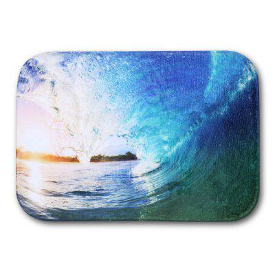 Sea Wave Flannel Doormat Rug Mat