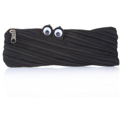 Cute Monster Zipper Pencil Box