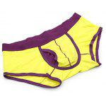 Cotton Breathable U Bound Boxers - YELLOW