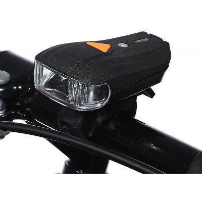 Bicycle USB Rechargeable Mini LED Front Warning Safety Light – BLACK