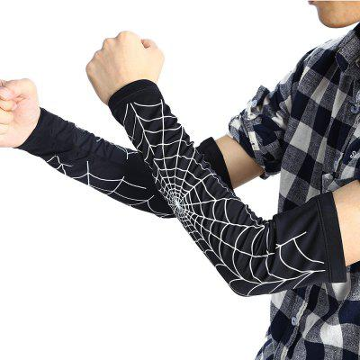 Paired Spider Web Basketball Arm Elbow Sleeve Pad