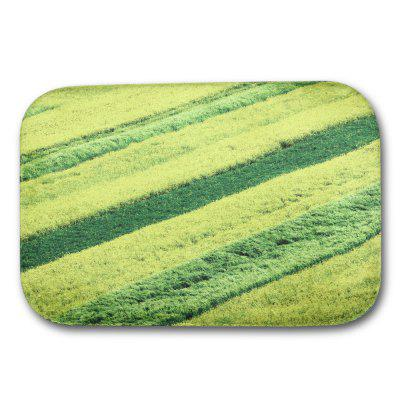 Rape Flower Printed Flannel Doormat Rug Mat