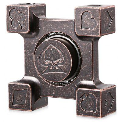 ADHD EDC Brass Fidget Square Hand Spinner