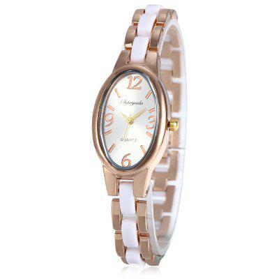 Chaoyada Oval Dial Women Quartz Watch