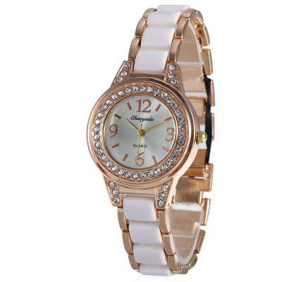Chaoyada Women Round Dial Quartz Watch