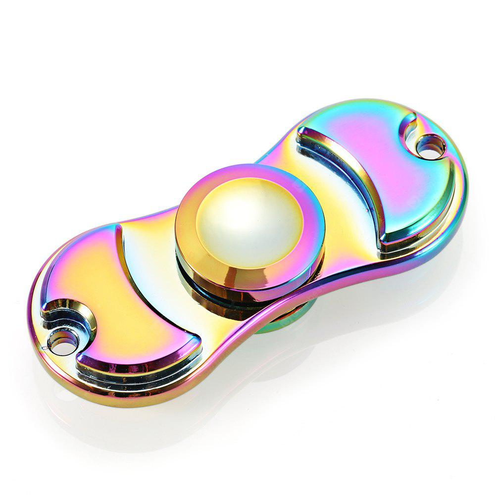 Colorful Two-leaf Zinc Alloy ADHD Fidget Spinner