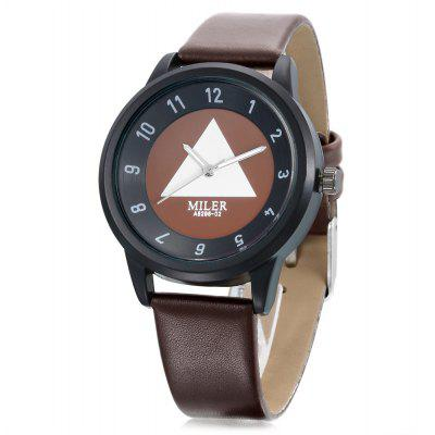 Buy MILER A8296 02 Quartz Watch for Women BROWN for $8.66 in GearBest store