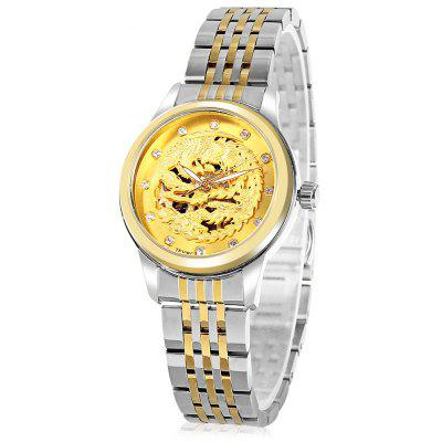 Buy TEVISE 9016 Automatic Mechanical Watch for Women, SILVER + GOLDEN (STAINLESS STEEL BAND), Watches & Jewelry, Women's Watches for $44.50 in GearBest store