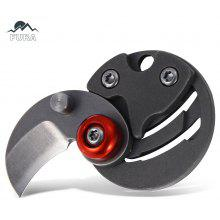 FURA Stainless Steel Handle Frame Lock Folding Coin Knife