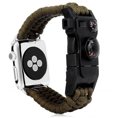 Pintaik Outdoor Nylon Wire Knit Watch Band for Apple Watch 38mm