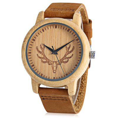 BOBO BIRD D15 Bamboo Men Quartz Watch