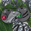 FURA Stainless Steel Handle Frame Lock Folding Coin Knife - GREEN