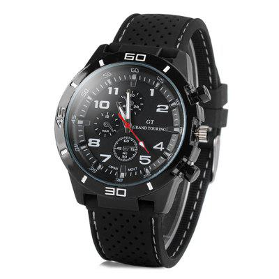 GT Fashion Sports Watch Analog with Round Dial Rubber Watch Band