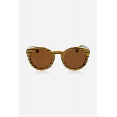 Wooden Frame UV400 Unisex Polarized Sunglasses Goggle