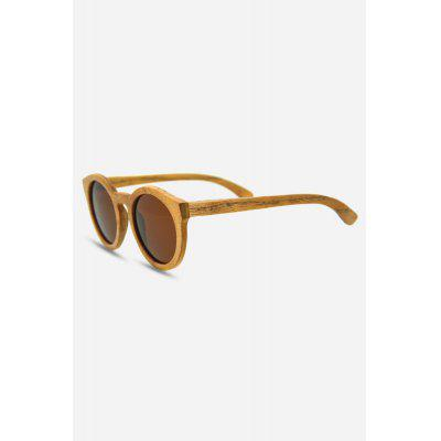 Round UV400 Polarized Lens Wood Frame Sunglasses