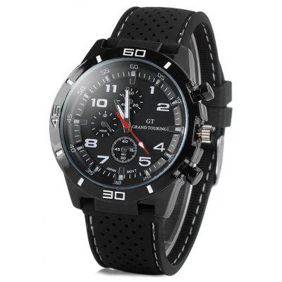 Gearbest GT Fashion Sports Watch Analog with Round Dial Rubber Watch Band