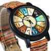 Sonsdo 6838 Unique Leather Strap Women Retro Quartz Watch - COLORMIX
