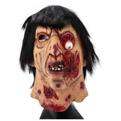 Horror Figure Head Mask with Hair