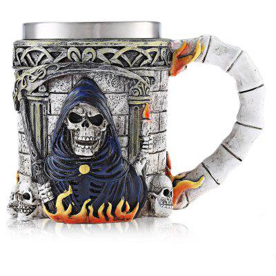 Cartoon Skull 3D Relief Mug