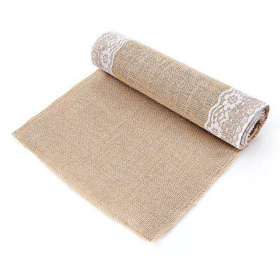 Retro Burlap Lace Table Runner Raleigh Buy Sell