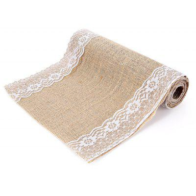 Retro Burlap Lace Table Runner