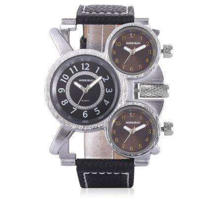 SHI WEI BAO J1106 Men Quartz WatchMens Watches<br>SHI WEI BAO J1106 Men Quartz Watch<br><br>Band material: Leather<br>Band size: 27.4 x 2.20cm / 10.79 x 0.87 inches<br>Brand: Shiweibao<br>Case material: Alloy<br>Clasp type: Pin buckle<br>Dial size: 5.50 x 5.50 x 1cm / 2.17 x 2.17 x 0.39 inches<br>Display type: Analog<br>Movement type: Multiple Movt<br>Package Contents: 1 x Watch<br>Package size (L x W x H): 10.30 x 7.85 x 7.34 cm / 4.06 x 3.09 x 2.89 inches<br>Package weight: 0.1840 kg<br>Product size (L x W x H): 27.40 x 5.50 x 1.00 cm / 10.79 x 2.17 x 0.39 inches<br>Product weight: 0.0840 kg<br>Shape of the dial: Round<br>Special features: Multi Time Zones, Luminous<br>Watch color: White, Brown<br>Watch mirror: Mineral glass<br>Watch style: Casual, Fashion<br>Watches categories: Male table<br>Water resistance: 30 meters<br>Wearable length: 19.00 - 25.00cm / 7.48 - 9.84 inches