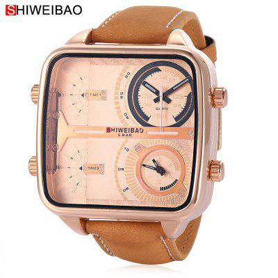 SHI WEI BAO J8099 Male Dual Quartz Watch