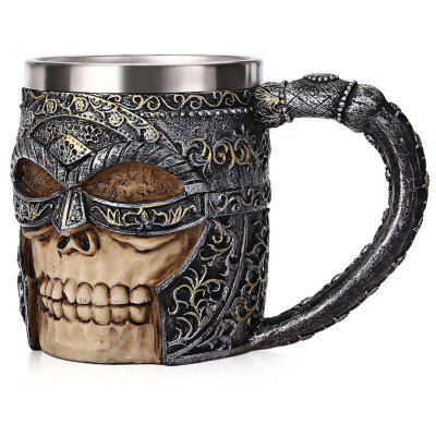 Skull Viking Warrior Relief Mug