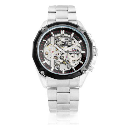 Forsining 1030 Men Auto Mechanical WatchMens Watches<br>Forsining 1030 Men Auto Mechanical Watch<br><br>Band material: Stainless Steel<br>Band size: 25 x 2cm / 9.84 x 0.79 inches<br>Brand: Forsining<br>Case material: Alloy<br>Clasp type: Sheet folding clasp<br>Dial size: 4.3 x 4.3 x 1cm / 1.69 x 1.69 x 0.39 inches<br>Display type: Analog<br>Movement type: Automatic mechanical watch<br>Package Contents: 1 x Watch<br>Package size (L x W x H): 13.00 x 5.30 x 2.00 cm / 5.12 x 2.09 x 0.79 inches<br>Package weight: 0.1690 kg<br>Product size (L x W x H): 25.00 x 4.30 x 1.00 cm / 9.84 x 1.69 x 0.39 inches<br>Product weight: 0.1380 kg<br>Shape of the dial: Round<br>Special features: Luminous<br>Watch color: Black, White, Golden<br>Watch mirror: Mineral glass<br>Watch style: Business, Fashion<br>Watches categories: Male table<br>Water resistance: 30 meters