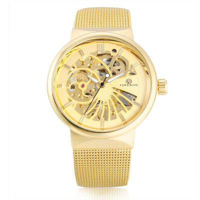 Forsining F162 Men Auto Mechanical WatchMens Watches<br>Forsining F162 Men Auto Mechanical Watch<br><br>Band material: Stainless Steel<br>Band size: 23 x 1.8cm / 9.06 x 0.71 inches<br>Brand: Forsining<br>Case material: Alloy<br>Clasp type: Sheet folding clasp<br>Dial size: 4 x 4 x 1cm / 1.57 x 1.57 x 0.39 inches<br>Display type: Analog<br>Movement type: Automatic mechanical watch<br>Package Contents: 1 x Watch<br>Package size (L x W x H): 12.00 x 5.00 x 2.00 cm / 4.72 x 1.97 x 0.79 inches<br>Package weight: 0.1060 kg<br>Product size (L x W x H): 23.00 x 4.00 x 1.00 cm / 9.06 x 1.57 x 0.39 inches<br>Product weight: 0.0750 kg<br>Shape of the dial: Round<br>Special features: Luminous<br>Watch color: Black and Golden, Golden, White and Golden, White+Black+Silver, Blue and White, Silver and White, Black, White and Black<br>Watch mirror: Mineral glass<br>Watch style: Business, Fashion<br>Watches categories: Male table<br>Water resistance: 30 meters