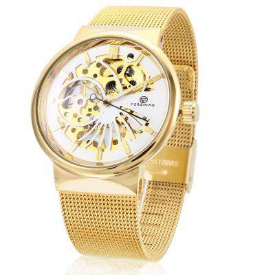 Buy WHITE AND GOLDEN Forsining F162 Men Auto Mechanical Watch for $24.43 in GearBest store