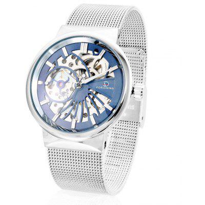 Buy Forsining F162 Men Auto Mechanical Watch BLUE AND WHITE Watches & Jewelry > Men's Watches for $13.45 in GearBest store
