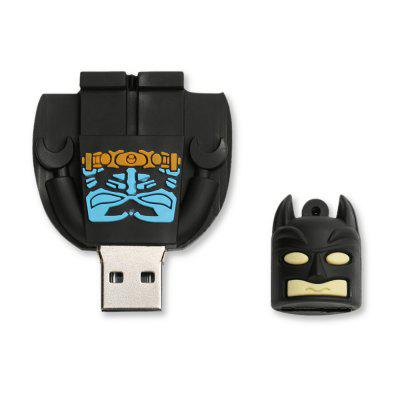 Caraele Batman USB Flash DriveUSB Flash Drives<br>Caraele Batman USB Flash Drive<br><br>Available Capacity: 16G,32G,64G,8G<br>Capacity: 16G,32G,64G,8G<br>Compatible with: Windows<br>Interface: USB 2.0<br>Max. Read Speed: 20MB/s<br>Max. Write Speed: 10MB/s<br>Package Contents: 1 x Caraele Batman USB Flash Drive<br>Package size (L x W x H): 4.50 x 7.00 x 3.00 cm / 1.77 x 2.76 x 1.18 inches<br>Package weight: 0.0220 kg<br>Product size (L x W x H): 4.50 x 6.00 x 2.00 cm / 1.77 x 2.36 x 0.79 inches<br>Product weight: 0.0200 kg<br>Style: Cartoon<br>Type: USB Stick