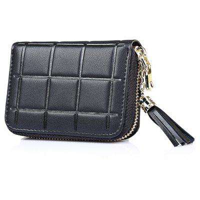 MADONNO Plaid Leather FRID Protected Card Holder