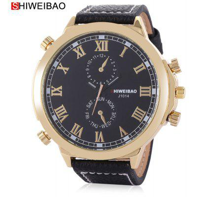 Buy SHI WEI BAO A1052 Men Quartz Watch, BLACK, Watches & Jewelry, Men's Watches for $6.44 in GearBest store