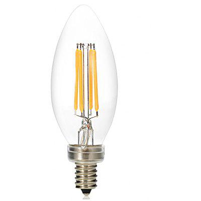 E12 4 x COB 3.5W 260 - 350LM Dimmable LED Filament Light