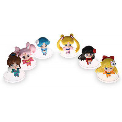 Modèle de Figurine d'animation Collectible 6pcs / set