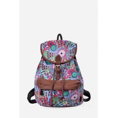 Buy BLUE VERTICAL Douguyan Floral Backpack for $16.80 in GearBest store
