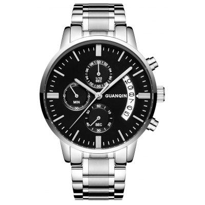 Buy GUANQIN GS19053 Men Quartz Watch, BLACK + SILVER, Watches & Jewelry, Men's Watches for $21.99 in GearBest store