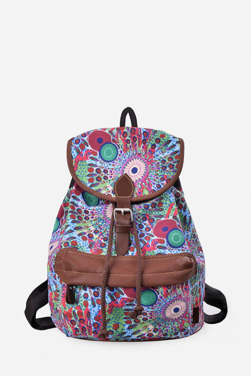 BLUE Douguyan Floral Backpack
