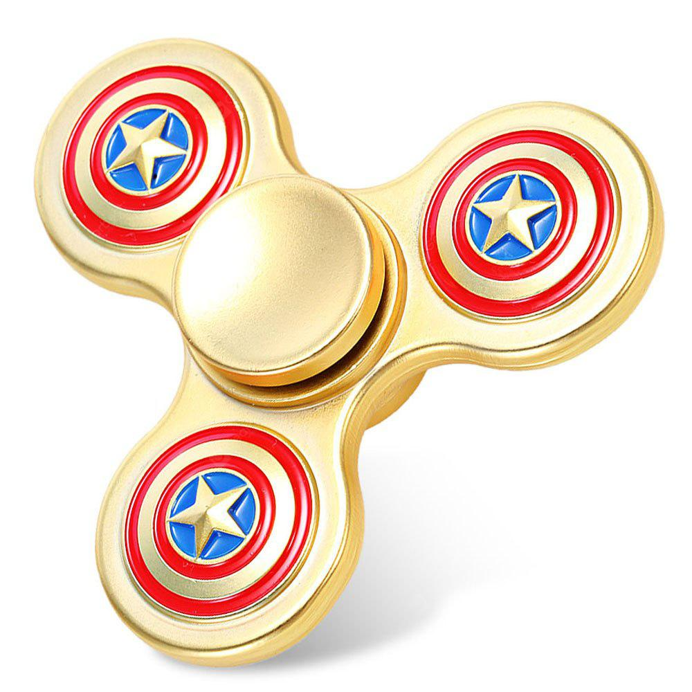 Three-leaf American Style Stainless Steel Fidget Spinner