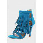 Fashionable Tassel Sandals for Women - BLUE
