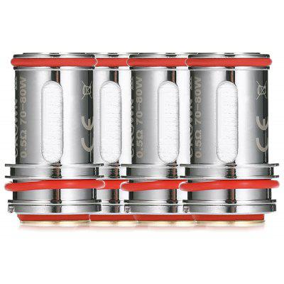 4pcs UWELL Crown 3 0.5 ohm Coils - SILVER