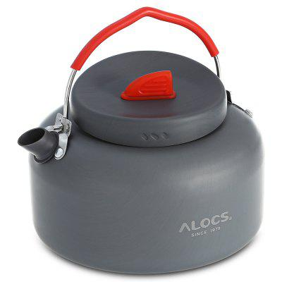 ALOCS CW - K04 PRO Outdoor 1.4L Kettle Teapot + Spirit Burner Camping Cookware Kit