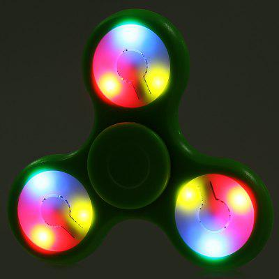 Multi-color Push Button LED Tri-wing ABS Fidget SpinnerFidget Spinners<br>Multi-color Push Button LED Tri-wing ABS Fidget Spinner<br><br>Color: Green<br>Features: LED Light<br>Frame material: ABS<br>Package Contents: 1 x Fidget Spinner<br>Package size (L x W x H): 9.00 x 9.00 x 1.90 cm / 3.54 x 3.54 x 0.75 inches<br>Package weight: 0.0550 kg<br>Product size (L x W x H): 7.20 x 7.20 x 1.40 cm / 2.83 x 2.83 x 0.55 inches<br>Product weight: 0.0290 kg<br>Swing Numbers: 3<br>Type: Triple Blade