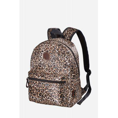 Buy BROWN Douguyan Female Leisure Leopard Print 14L Backpack for $29.24 in GearBest store