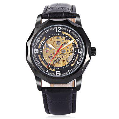 Winner H199M Male Auto Mechanical WristwatchMens Watches<br>Winner H199M Male Auto Mechanical Wristwatch<br><br>Band material: Leather<br>Band size: 25.5 x 2cm / 10.04 x 0.79 inches<br>Brand: Winner<br>Case material: Alloy<br>Clasp type: Pin buckle<br>Dial size: 4.5 x 4.5 x 1cm / 1.77 x 1.77 x 0.39 inches<br>Display type: Analog<br>Movement type: Automatic mechanical watch<br>Package Contents: 1 x Watch<br>Package size (L x W x H): 26.50 x 5.50 x 2.00 cm / 10.43 x 2.17 x 0.79 inches<br>Package weight: 0.1010 kg<br>Product size (L x W x H): 25.50 x 4.50 x 1.00 cm / 10.04 x 1.77 x 0.39 inches<br>Product weight: 0.0700 kg<br>Shape of the dial: Round<br>Special features: Luminous<br>Watch color: Black, White<br>Watch mirror: Mineral glass<br>Watch style: Business, Fashion<br>Watches categories: Male table<br>Water resistance: Life water resistant<br>Wearable length: 19.00 - 24.00cm / 7.48 - 9.45 inches