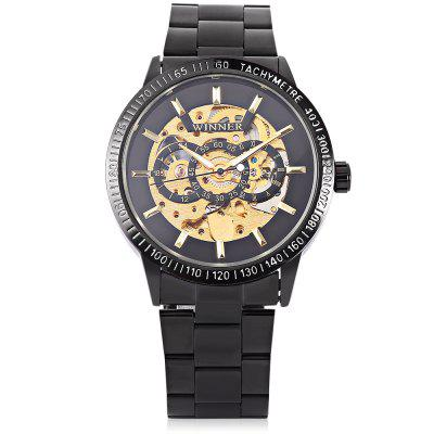 Winner H216M Men Auto Mechanical WatchMens Watches<br>Winner H216M Men Auto Mechanical Watch<br><br>Band material: Stainless Steel<br>Band size: 24 x 2cm / 9.45 x 0.79 inches<br>Brand: Winner<br>Case material: Alloy<br>Clasp type: Sheet folding clasp<br>Dial size: 4 x 4 x 1cm / 1.57 x 1.57 x 0.39 inches<br>Display type: Analog<br>Movement type: Automatic mechanical watch<br>Package Contents: 1 x Watch<br>Package size (L x W x H): 13.00 x 5.00 x 2.00 cm / 5.12 x 1.97 x 0.79 inches<br>Package weight: 0.1510 kg<br>Product size (L x W x H): 24.00 x 4.00 x 1.00 cm / 9.45 x 1.57 x 0.39 inches<br>Product weight: 0.1200 kg<br>Shape of the dial: Round<br>Special features: Luminous<br>Watch color: Black and Golden, Black<br>Watch mirror: Mineral glass<br>Watch style: Business, Fashion<br>Watches categories: Male table<br>Water resistance: Life water resistant